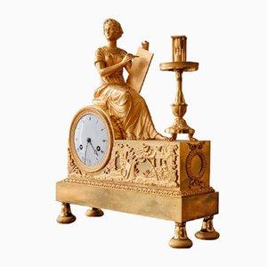 Empire Allegorical Gilded Bronze Clock