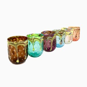 Vintage Italian Murano Water Glasses by Mar'yana Iskra for Ribes, 2004, Set of 6