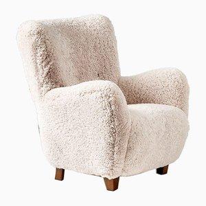 Dänischer Schafsfell Sessel