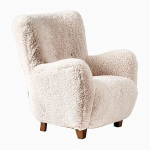 Danish Sheepskin Lounge Chair