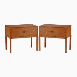 Oak Nightstands by Kai Kristiansen for Aksel Kjersgaard, 1960s, Set of 2