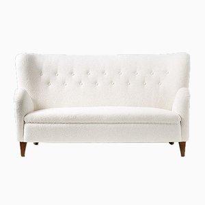 Finnisches Boucle Sofa, 1940er