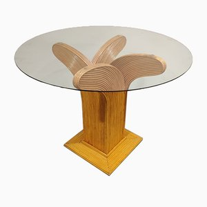 Bamboo Dining Table from Vivai del Sud, 1970s