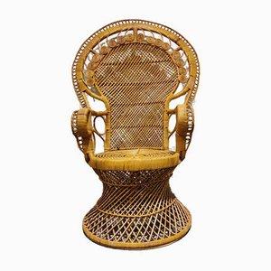 Vintage Peacock Chair aus Korbgeflecht, 1970er