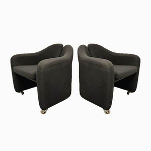 PS142 Easy Chairs by Eugenio Gerli for Tecno, 1970s, Set of 2