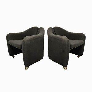 PS142 Sessel von Eugenio Gerli für Tecno, 1970er, 2er Set