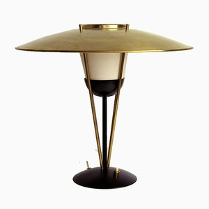 Brass and Metal Table Lamp in the Style of Oscar Torlasco, 1950s