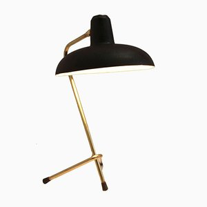 Vintage French Black Cocotte Tripod Table Lamp, 1950s