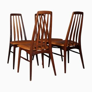 Rosewood Model Eve Dining Chairs by Niels Koefoed, 1960s, Set of 4