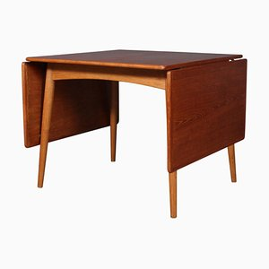 Model At313 Teak Dining Table with 2 Extensions by Hans J. Wegner, 1960s