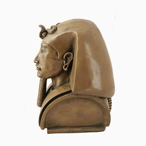 Bronze Egyptian Head by Ronald Moll Akhenaten, 1990s