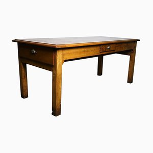 Antique French Cherry Dining Table, Late 19th Century
