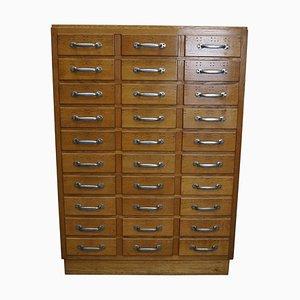 Vintage Dutch Oak Apothecary Cabinet, 1950s