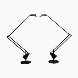 Flamingo Table Lamps by Fridolin Naef for Luxo, 1980s, Set of 2