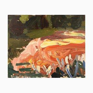 Britt-Louise Kjellberg-Mangs, Abstract Landscape, 1960s, Oil on Canvas