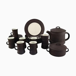 FlameStone Tea Service in Stoneware by Jens Quistgaard, 1960s, Set of 15
