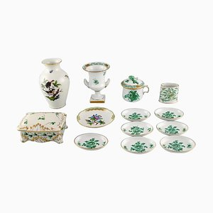 Collection of Herend Porcelain, Mid-20th Century, Set of 13