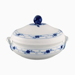 Early 20th Century Royal Copenhagen Rosenknop / Blue Rose Lidded Tureen