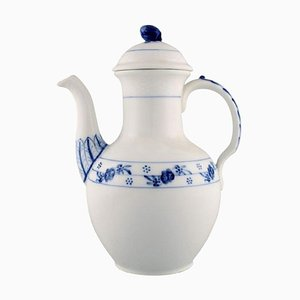 Early 20th Century Royal Copenhagen Rosebud / Blue Rose Coffee Pot in Hand Painted Porcelain