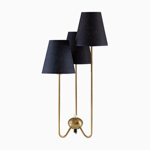 Midcentury Scandinavian Table Lamp in Brass from ASEA, 1940s