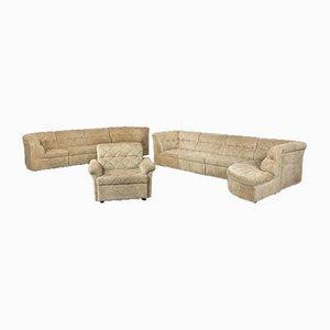 Vintage Beige Velvet Elemental Sofa by Laauser, Set of 9