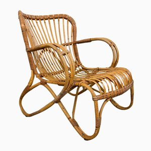 Vintage Rattan Armchair by Rohe Novosibirsk