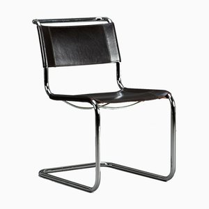 Brown Leather S33 Chair from Thonet, 1990s