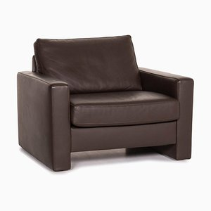 Brown Leather Armchair from Ewald Schillig