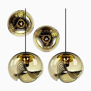 Set of Sconces and Pendant Lamps by Koch & Lowy, 1970s, Set of 4