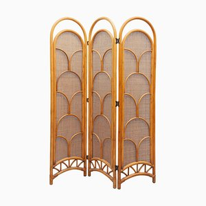 Bamboo 3-Panel Room Screen, 1970s