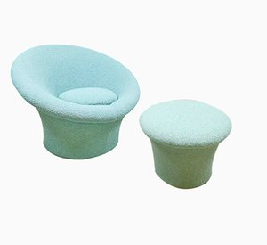 F560 Mushroom and Stool by Pierre Paulin for Artifort, 1960s, Set of 2