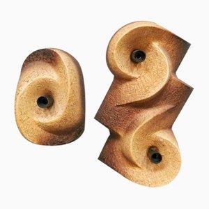Dutch Ceramic Sconces, 1970s, Set of 2