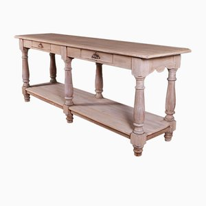 French Oak Console Table, 1890s