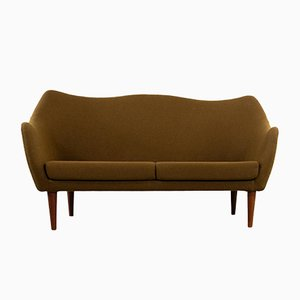 Mid-Century Danish Modern Sculptural 2-Seater Sofa from Slagelse Mobelvaerk, 1960s