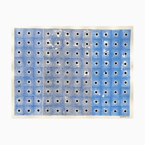 Jeremiah Iordanoff, # 578, Blue on Blue, 2010, Work on Paper