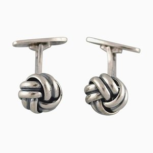 Th.Tax-Rørdam Modernist Cufflinks, 1950s, Set of 2