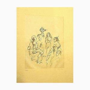 Leonor Fini - Nimphs - Original Hand Signed Lithograph 1982