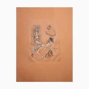 Leonor Fini - Toads - Original Hand Signed Lithograph 1982