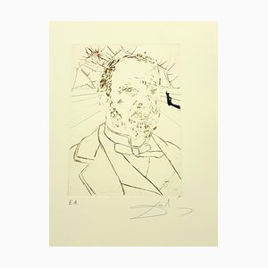 Salvador Dali - Louis Pasteur - Original Hand Signed Engraving 1970