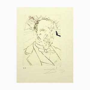 Salvador Dali - Louis Pasteur - Original Hand Signed Engraving 1970