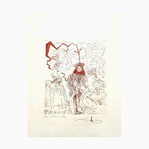 Salvador Dali - Benjamin Franklin - Originale Handsignierte Radierung 1967