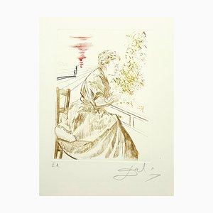 Salvador Dali - Marie Curie - Original Hand Signed Engraving 1970