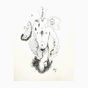 Jean Cocteau - King Edipo - Litografia originale, 1956