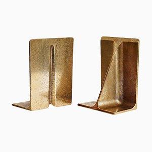 Bronze Buchstützen von Henry Wilson
