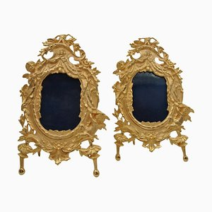 Golden Bronze Photo Frames, Set of 2
