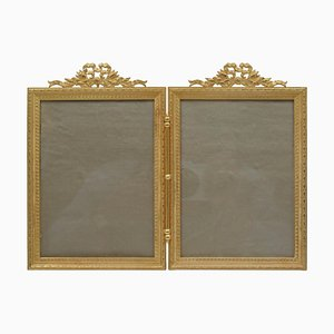 Double Golden Brass Frame, 19th Century