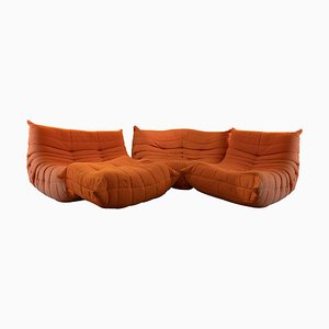 Togo Vintage Sofa Set by Michel Ducaroy for Ligne Roset, 1970s, Set of 4