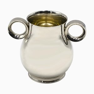 Vintage Bulgari Silver Vase, Italy, 1976