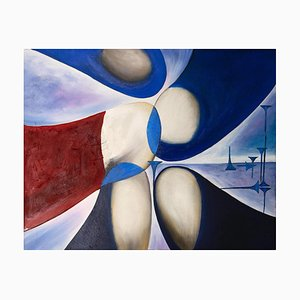 Giorgio Lo Fermo, Five Shapes, 2020, Oil Painting