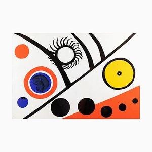 Alexander Calder, Ray Black, 1976, Lithograph